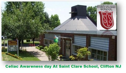 Celiac Awareness At Saint Clare School Clifton NJ